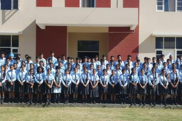 Team of 129 Students and 7 teachers for No More Plastic project 2019.