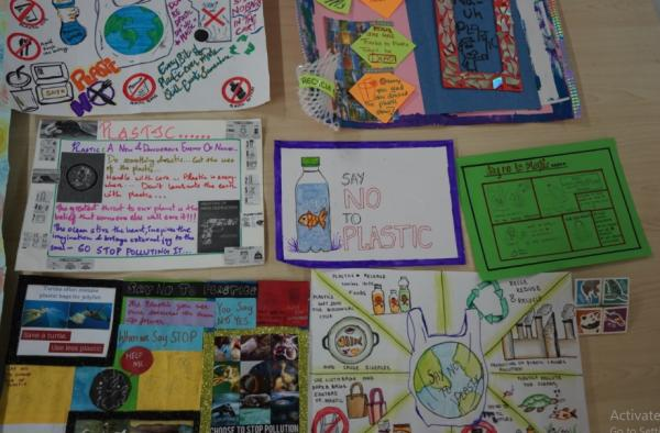posters designed by students as an initial activity